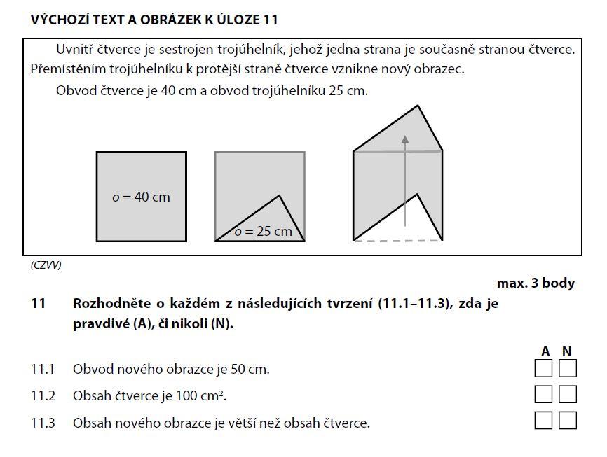 prijimacky-zadani-test-matematika-2015-priklad-11.1 a 11.2 a 11.3