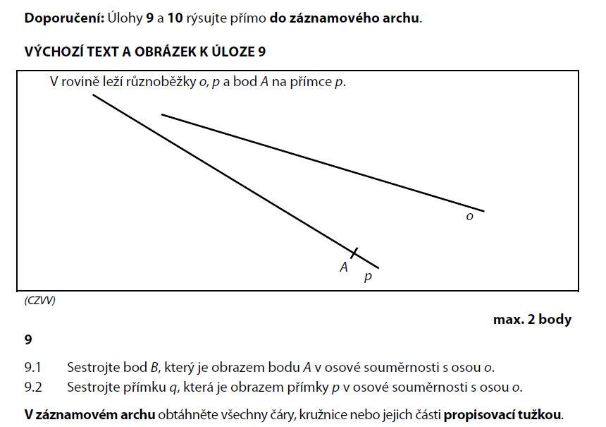 prijimacky-zadani-test-matematika-2015-priklad-9.1 a 9.2